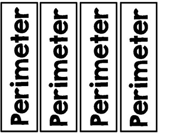 Perimeter and Area Cards