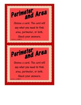 Perimeter and Area Centers