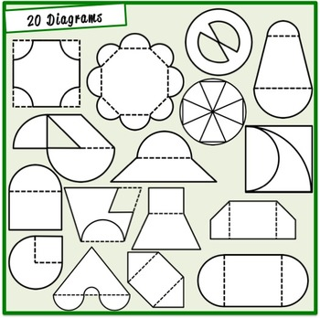 Perimeter and Area Clipart (Geometry, Math)