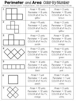 Perimeter and Area Color-By-Number