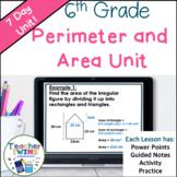 6th Grade Perimeter and Area Unit