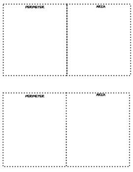 Perimeter and Area Concept Sort