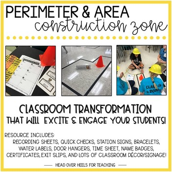 Perimeter and Area Construction Zone {Classroom Transformation}