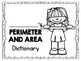 Perimeter and Area Dictionary