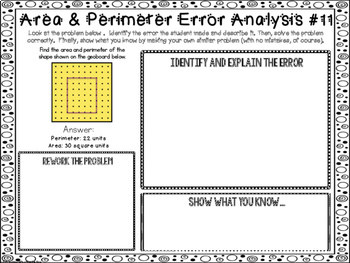 Perimeter and Area Error Analysis