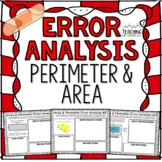 Perimeter and Area Error Analysis   Distance Learning   Google Classroom