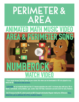 Perimeter and Area   FREE Math Poster, Worksheet, & Fun Video   3rd-4th Grade