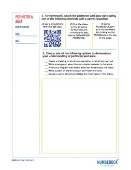 Perimeter and Area | FREE Math Poster, Worksheet, & Fun Video | 3rd-4th Grade