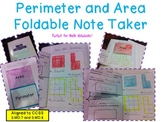 Perimeter and Area Foldable Note Taker
