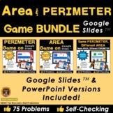 Perimeter and Area Game for Google Slides Bundle 3 - Dista