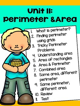 Perimeter and Area Guided Math Unit