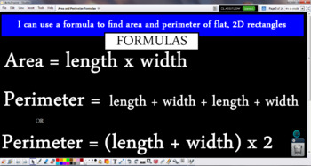 Perimeter and Area: Introduction to Formulas
