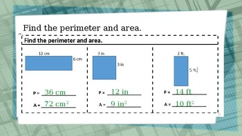 Perimeter and Area Lesson Powerpoint