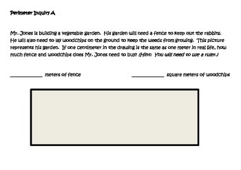 Perimeter and Area Lesson for Interactive Math Notebooks
