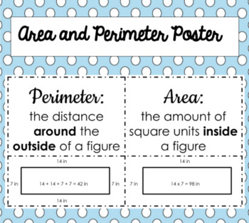 Perimeter and Area Poster!