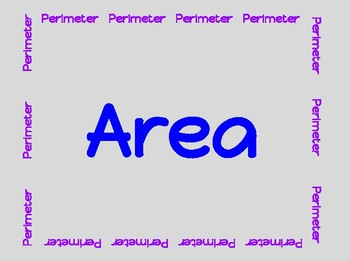 Perimeter and Area Poster