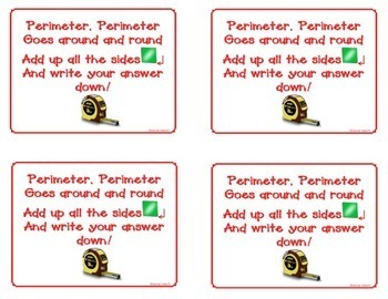 Perimeter and Area Anchor Chart Posters