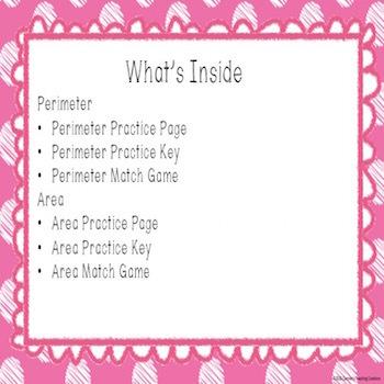 Perimeter and Area Practice