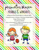 Perimeter and Area Printables -Foldable and Worksheets