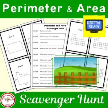 Perimeter and Area Scavenger Hunt