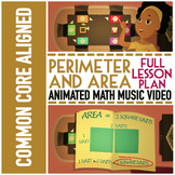 ♫♪ Area & Perimeter Animated Video ★ Word Problems, Game,
