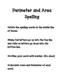 Perimeter and Area Spelling