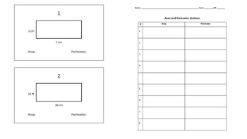 Perimeter and Area Task Cards / Stations Activity