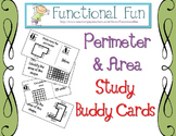 Perimeter and Area Study Buddy Cards