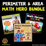 Perimeter and Area Bundle with PowerPoint, Game and Center