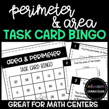 Perimeter and Area Task Card Bingo