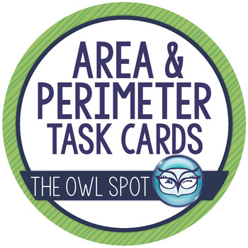 Perimeter and Area Task Cards Test Prep