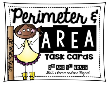 Perimeter and Area Task Cards {Aligned with TEKS & CCSS} Test Prep