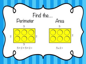 Perimeter and Area Task Cards {Building Bricks}
