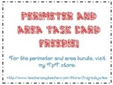 Perimeter and Area Task Cards - Freebies