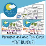 Perimeter and Area Task Cards MINI BUNDLE!