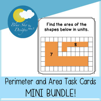 Perimeter and Area Task Cards MINI BUNDLE!