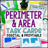 Perimeter and Area Task Cards | Distance Learning | Google Classroom