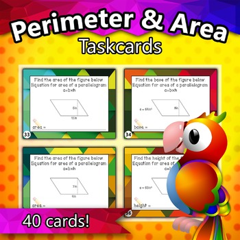 4.MD.3 - Perimeter and Area Taskcards