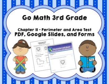 perimeter and area test 3rd grade go math chapter 11 by joanna riley. Black Bedroom Furniture Sets. Home Design Ideas