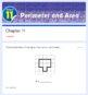 Perimeter and Area Test 3rd Grade (Go Math Chapter 11)