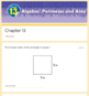 Perimeter and Area Test (Go Math Chapter 13 4th Grade)