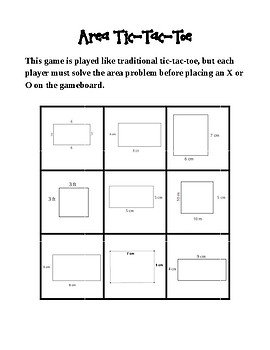 Perimeter and Area Tic-Tac-Toe