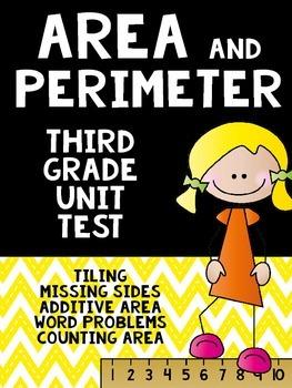 Perimeter and Area Unit Assessment- 3rd Grade Common Core