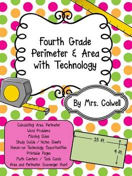 Perimeter and Area Unit with Technology for 4th Grade