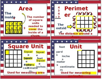 Perimeter and Area Visual