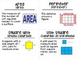 Area and Perimeter Vocabulary (Go Math)