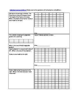 Perimeter and Area Word Problems using Common Core and TEKS Test Prep