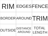 Perimeter and Area Word Sort