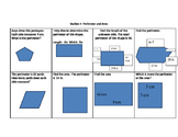 Perimeter and Area Worksheet and Key-Common Core