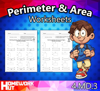 4.MD.3 - Perimeter and Area Worksheets